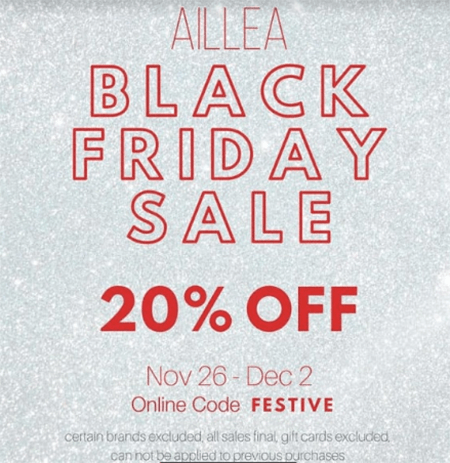 allea black friday sale 2019